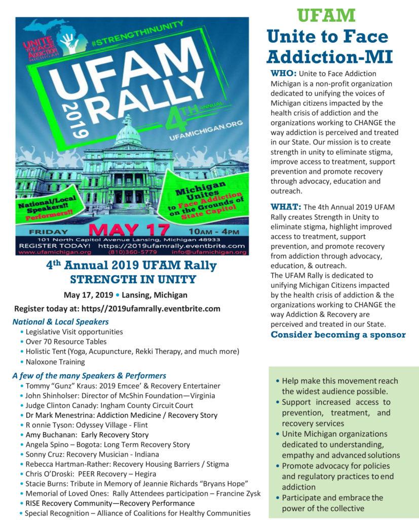 2019 UFAM Rally Flyer