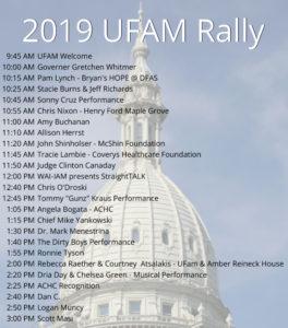2019 UFAM Rally Line-up