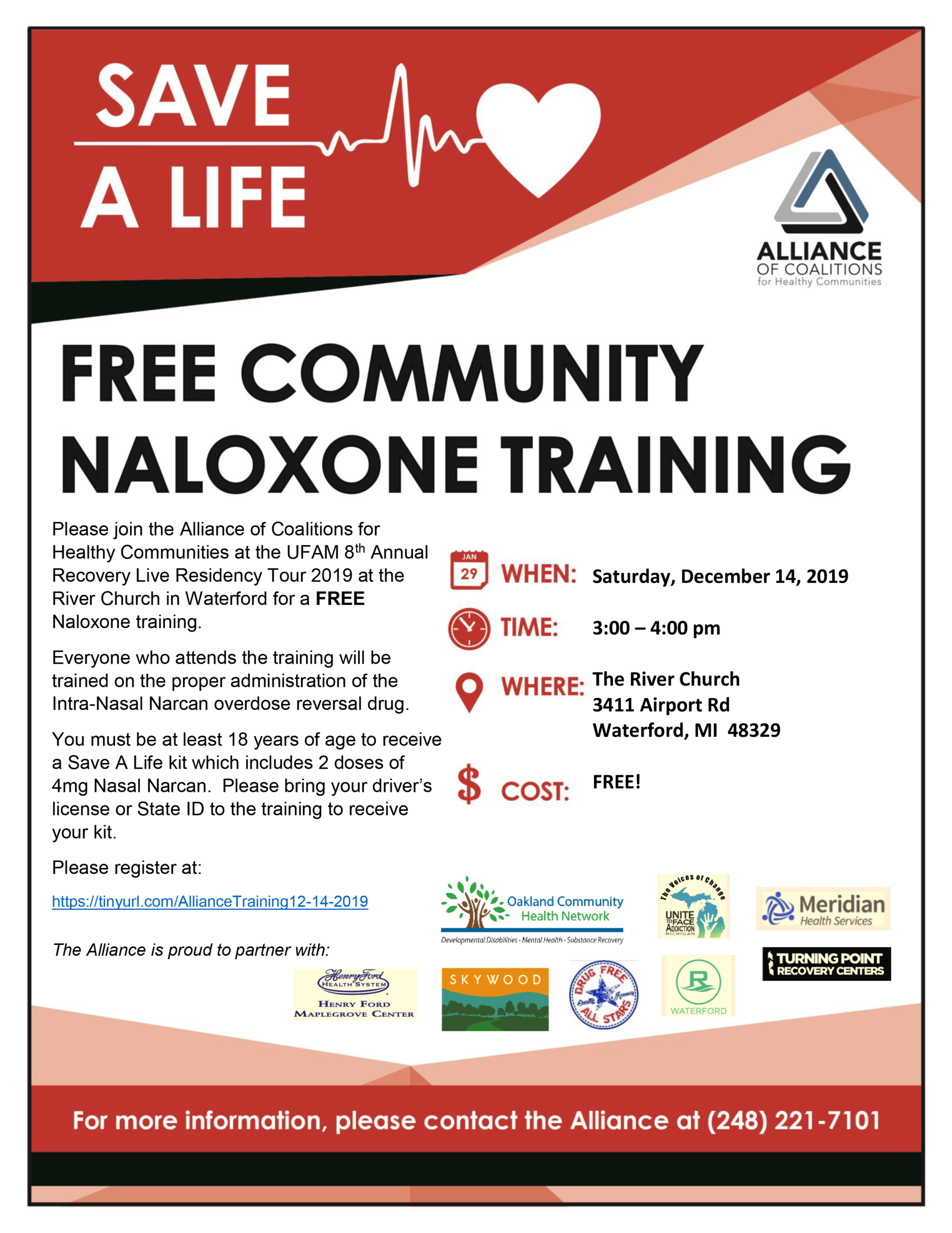 Free Narcan Training in Waterford December 14th
