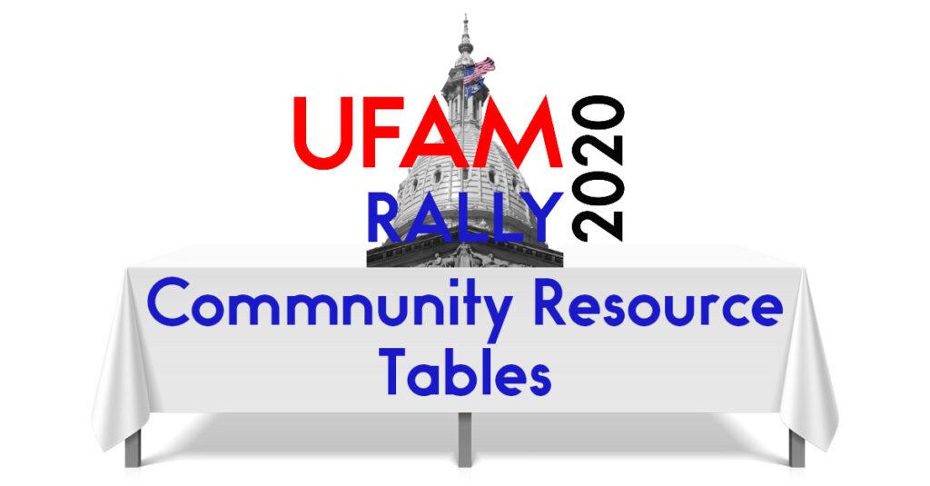 UFAM 2020 Community Resource Tables