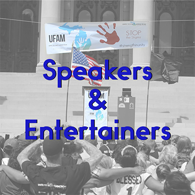 UFAM 2020 Rally Speakers & Entertainers